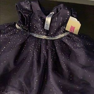 New with tags Cherokee navy/silver dress 3mo